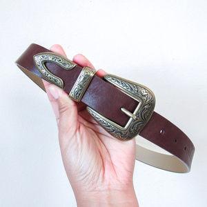 VINCE CAMUTO Western Vegan Leather Waist Belt S